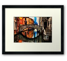 Reflecting on Venice Framed Print