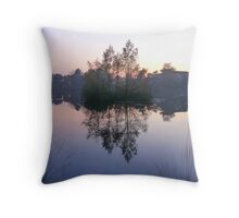 Dream Landscape - Evening Mists Throw Pillow