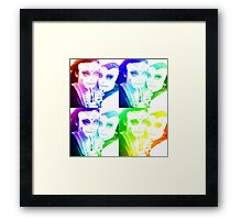 electric day of the undead Framed Print