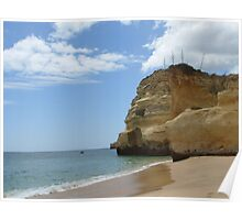 """Coast Line""  West Coast of Albufeira, Portugal Poster"