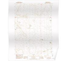USGS Topo Map Oregon Fire Lake 279862 1985 24000 Poster