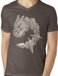 Steelix by Derek Wheatley Mens V-Neck T-Shirt