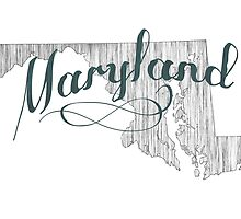 Maryland State Typography by surgedesigns