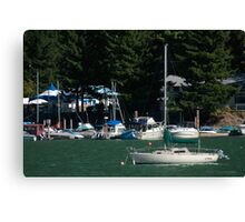 Boats at Harrison Hot Springs Canvas Print