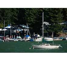Boats at Harrison Hot Springs Photographic Print