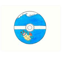 Squirtle in a Pokeball Art Print