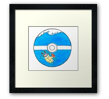 Squirtle in a Pokeball Framed Print