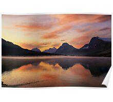 Sunrise at Bow Lake, Banff NP Poster