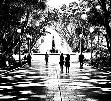 Through Sydney Hyde Park to meet you.: Got 4 Featured Works by Kornrawiee