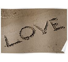 Love Written on the Sand Poster