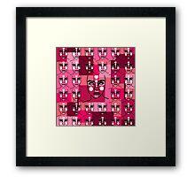 army of mystical heads Framed Print