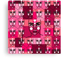 army of mystical heads Canvas Print