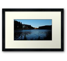Still water at Cod Beck Framed Print