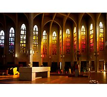 Colored Stained Glass Windows Photographic Print