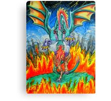 Dragon From hell Canvas Print