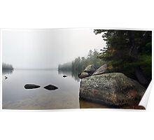 Granite Boulders - Bear Pond (Waterford,  Maine) Poster