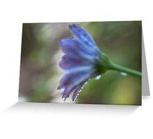 Purple painting Greeting Card