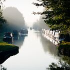 An early start - Grand Union Canal, Cosgrove by David Isaacson