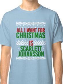 All I Want For Christmas (Scarlett Johansson) Classic T-Shirt