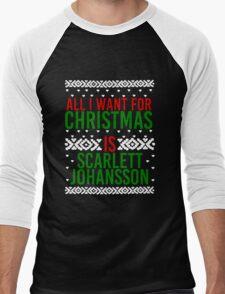 All I Want For Christmas (Scarlett Johansson) Men's Baseball ¾ T-Shirt