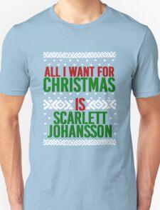 All I Want For Christmas (Scarlett Johansson) Unisex T-Shirt