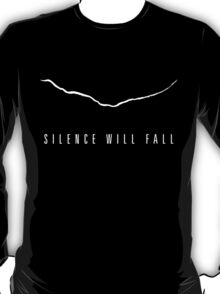 """""""Silence Will Fall"""" The Crack (Dark Colors) T-Shirt"""