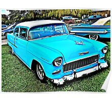 1955 Chevy Coupe - Oakland Beach - Cruise Night Poster