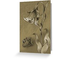 Sepia Strawberry Greeting Card