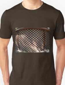 Wall of the building covered wooden planks crosswise T-Shirt