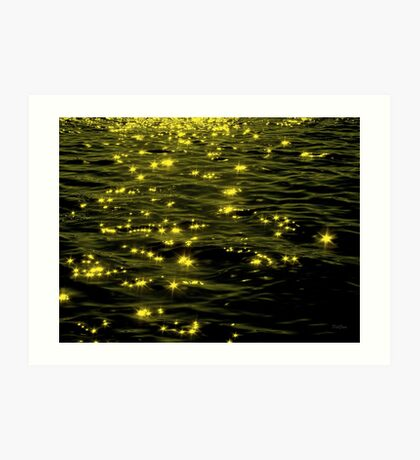 Sparkling Water Shimmers Art Print