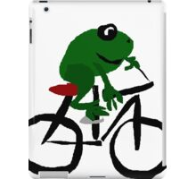Cool Funny Frog Riding Bicycle Original Art iPad Case/Skin
