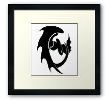 How To Train Your Dragon Nightfury Symbol Framed Print