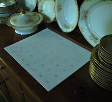 a hutch~some dishes~and a calendar... by dabadac
