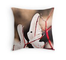 Treet Branches in a Winter Thaw Throw Pillow