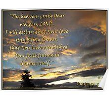 The Heavens Praise Poster