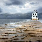Breakwater Lighthouse - Rockland by Lori Deiter