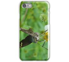 Long-tailed Blue Skipper on Spanish Needles iPhone Case/Skin