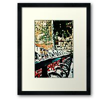 Barcelona Bicycles Framed Print