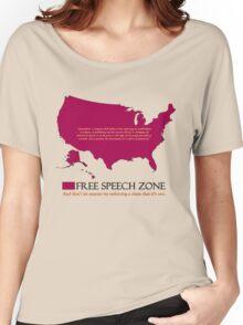 free speech zone Women's Relaxed Fit T-Shirt