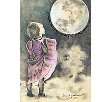 I hope one day I'll fly to the moon ... Photographic Print