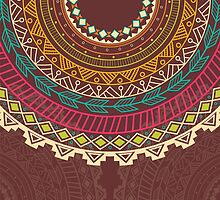 Ethnic Aztec circle ornament by BlueLela