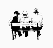 Sitting on a park bench Unisex T-Shirt