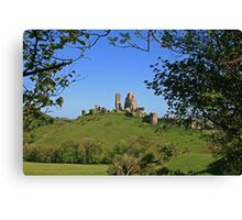 Corfe's Been Framed Canvas Print