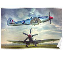 Supermarine Spitfire FR MkXVIIIe Composite Poster
