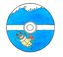 Squirtle PokeBall Photographic Print