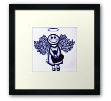 Angel Heart - sending love your way! Framed Print