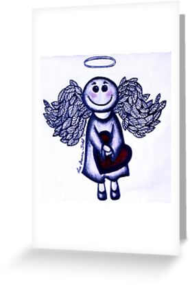 Angel Heart - sending love your way! by Lisa Frances Judd~QuirkyHappyArt