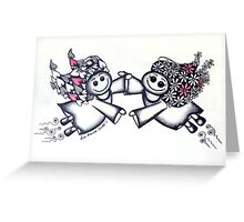 Angel Hugs - truly smitten! Greeting Card