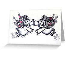 Angel Hugs - truly smitten! Greeting Card