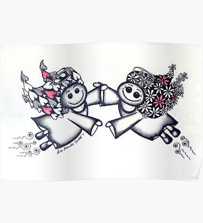 Angel Hugs - truly smitten! Poster